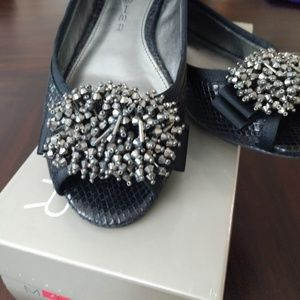Marc Fisher Open Toed Sparkle Flats